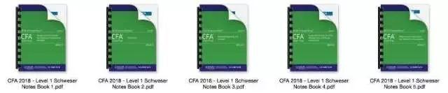 2018年CFA Curriculum官方教材