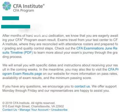 2018年CFA考试成绩将于8月第三周公布结果!