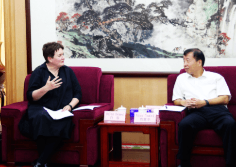 ACCA行政总裁白容与福田区区委书记肖亚非进行友好会谈